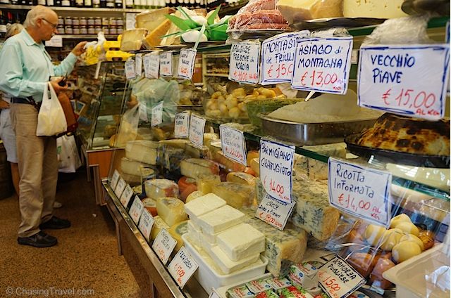 Cheese and a local in Signore Roberto's shop