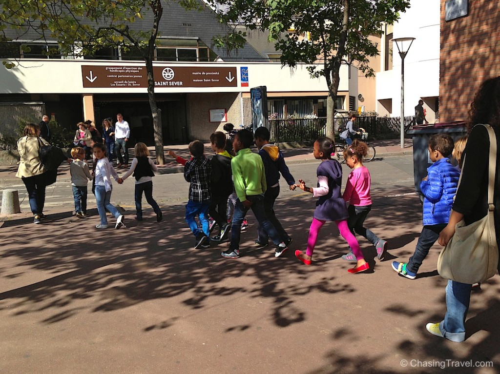 French school kids