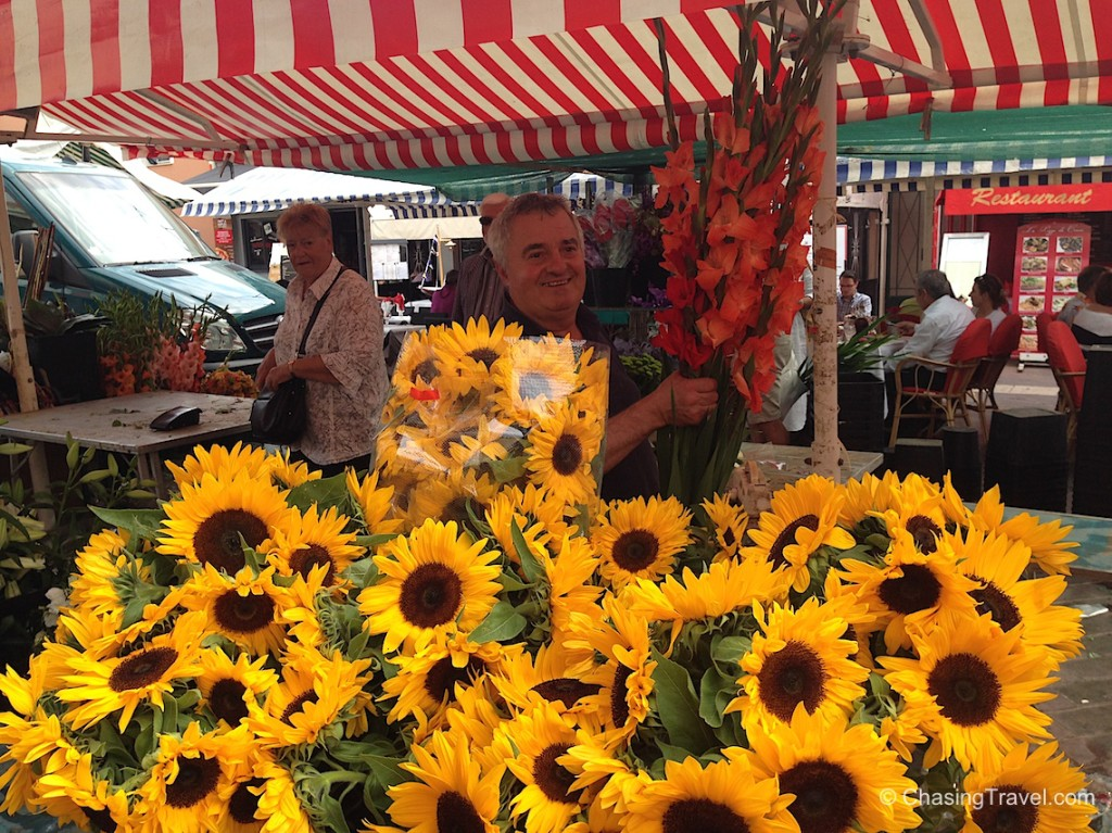 The flower man for Marion's wedding