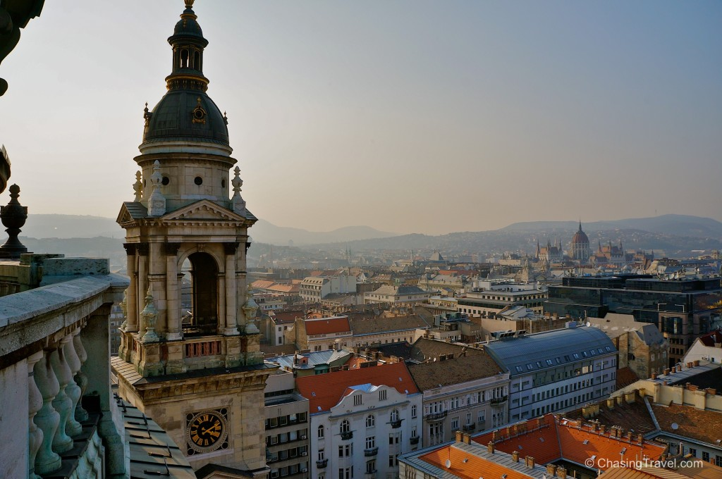 view of Budapest from cathedral