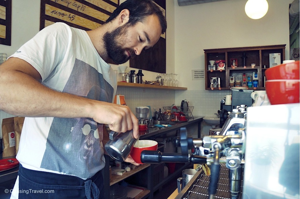 new wave coffee barista prague