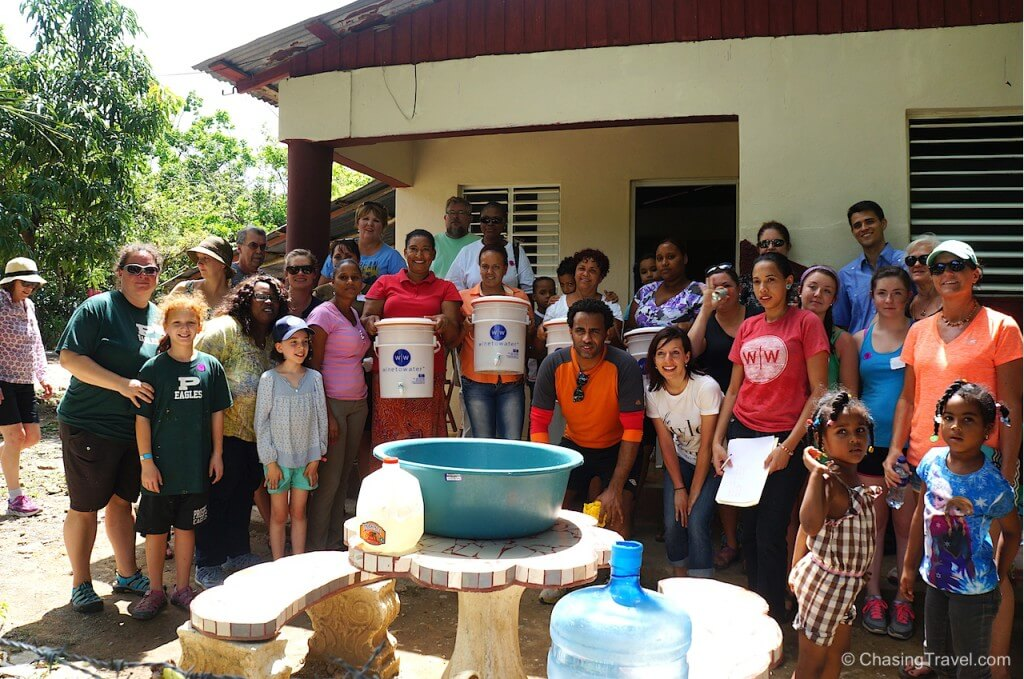 delivering clean water filters in dominican republic with wine to water