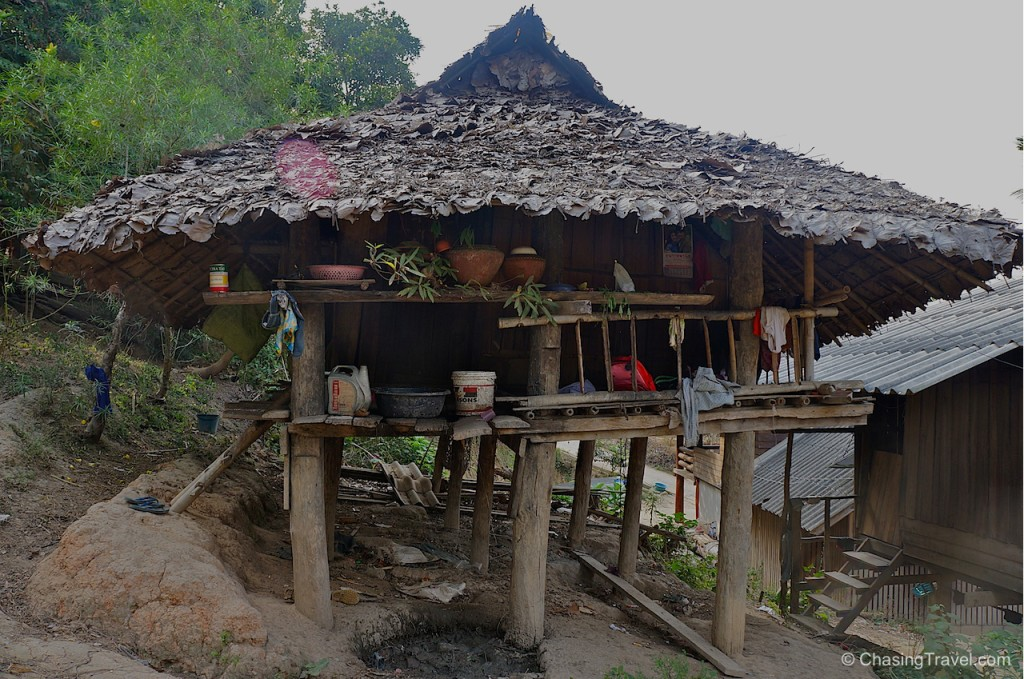 A home near Burmese settlement in northern Thailand