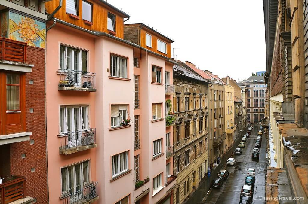 view of budapest from best airbnb apartment