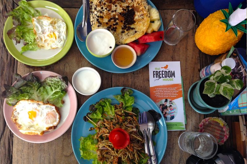 Free Bird Cafe for refugees in thailand