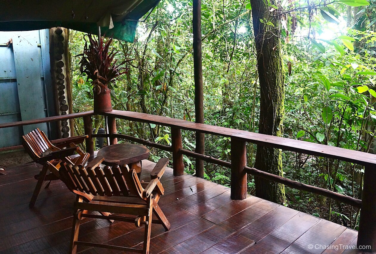 porch in the jungle at Costa Rica eco-lodge hotel