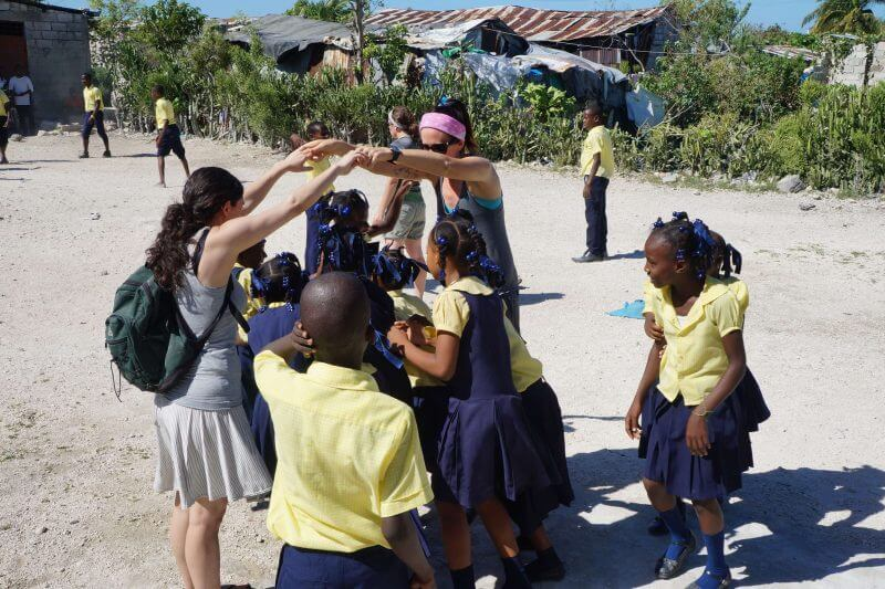 kids playing in Haiti