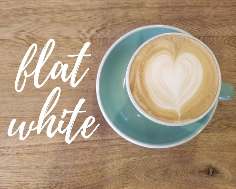 Flat white latte art